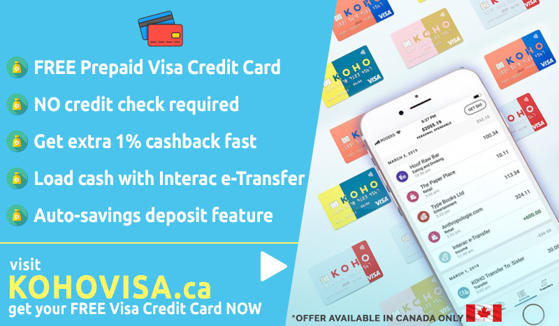KOHO App Visa Credit Card Truly No Hidden Fees Banking with Checking Account Canada Only Help You Save Money Today Get Yours Now Visit KOHOVISA.ca