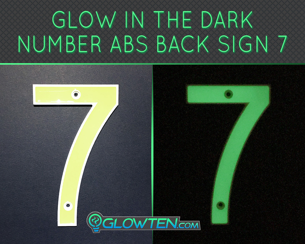 GLOWTEN.com - Glow in the dark house signsHousewarming gift street Photo luminescent house Number Seven 7 day and night front view