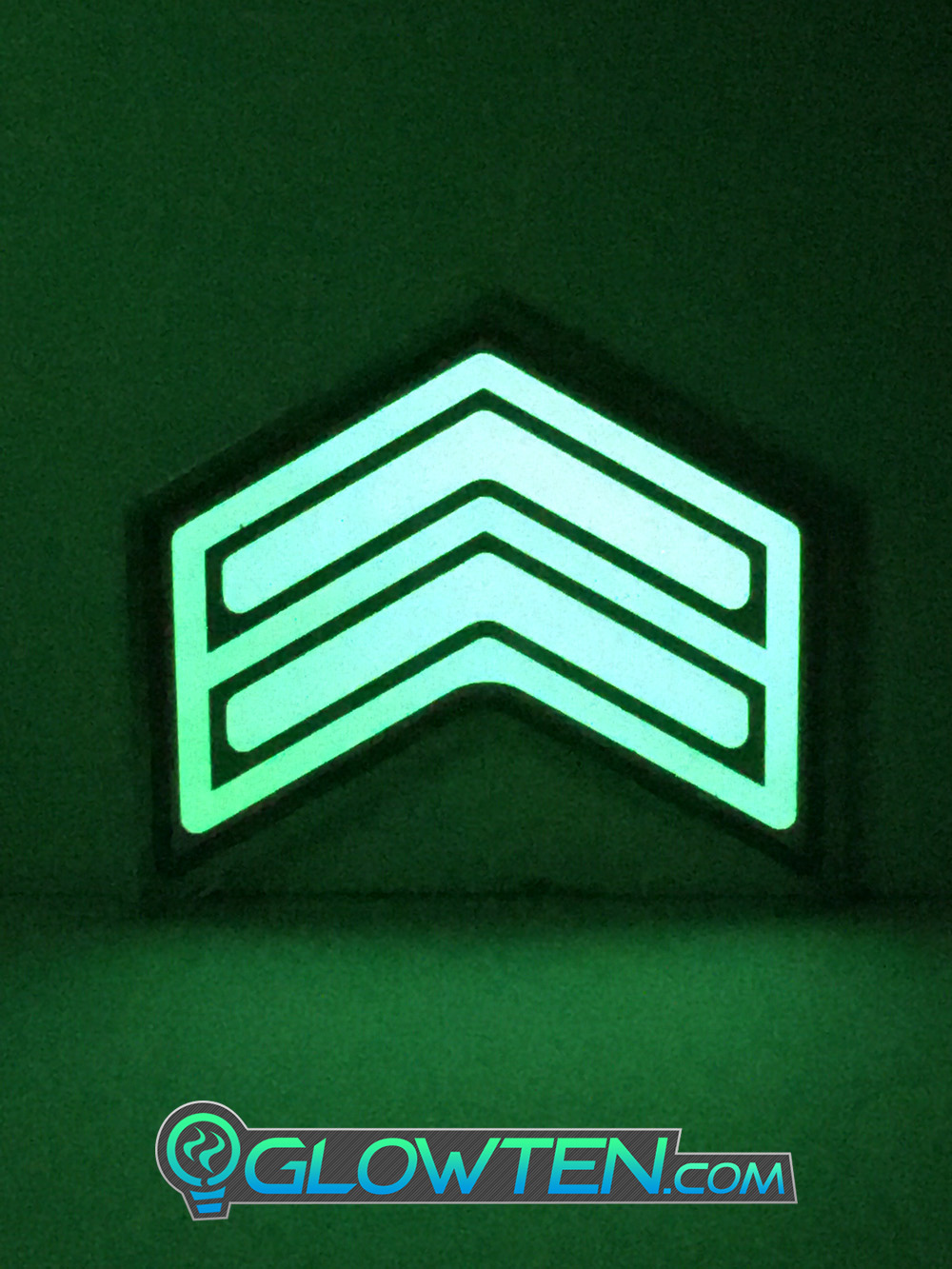 GLOWTEN.com - DOUBLE ARROWS Glow in the Dark Stairs Guide Directional Safety See Clearly At Night Metal Badge Sign walkways,stairs,exits picture photo cap preview pic 2