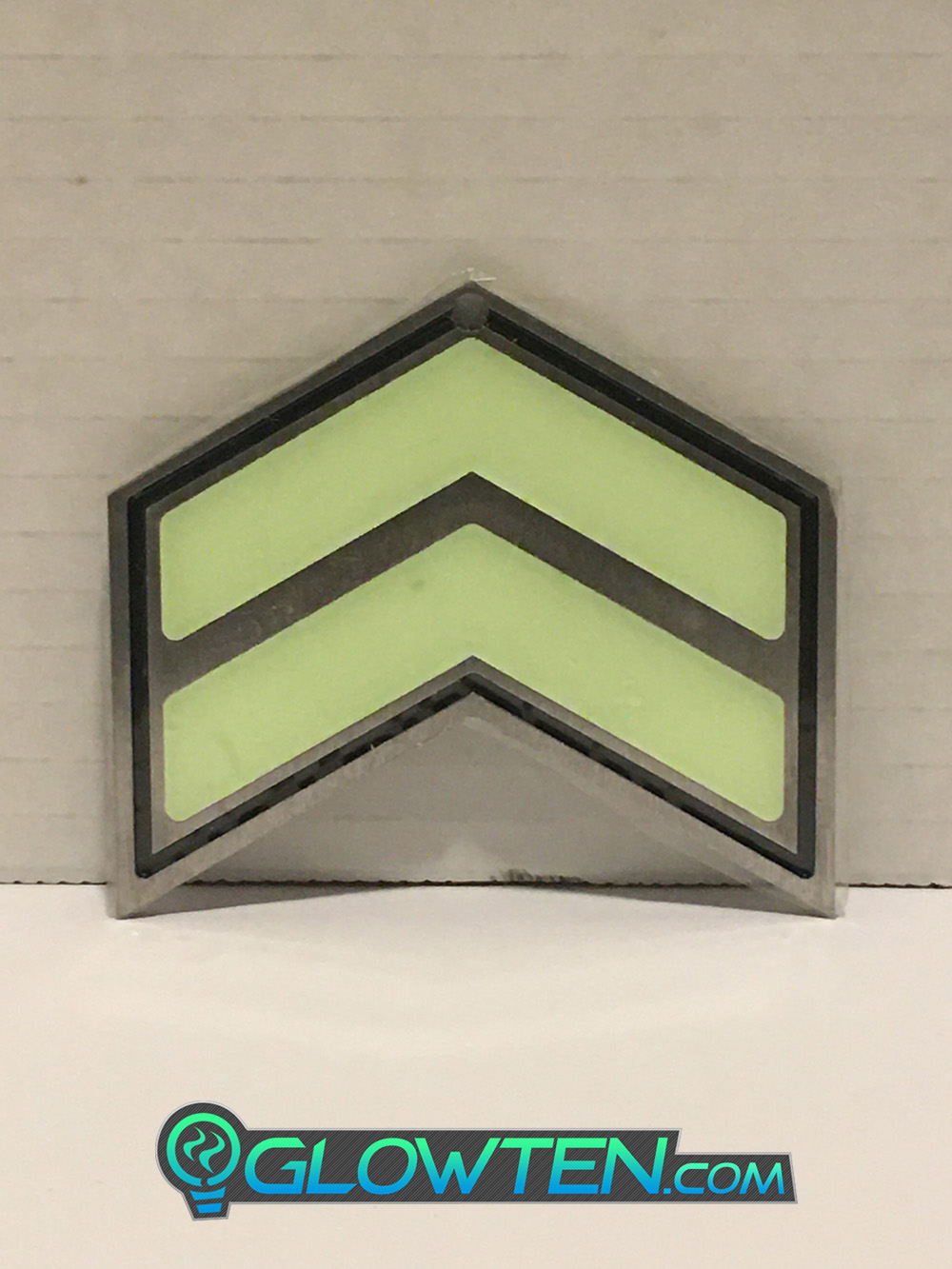 GLOWTEN.com - Safety Guidance System, Emergency Exit Directional Pointer Glow in the Dark Stairs Direction Guide Sign TWO ARROWS Pointer Photoluminescent Stainless Steel Green Glow picture photo cap preview pic image search 1