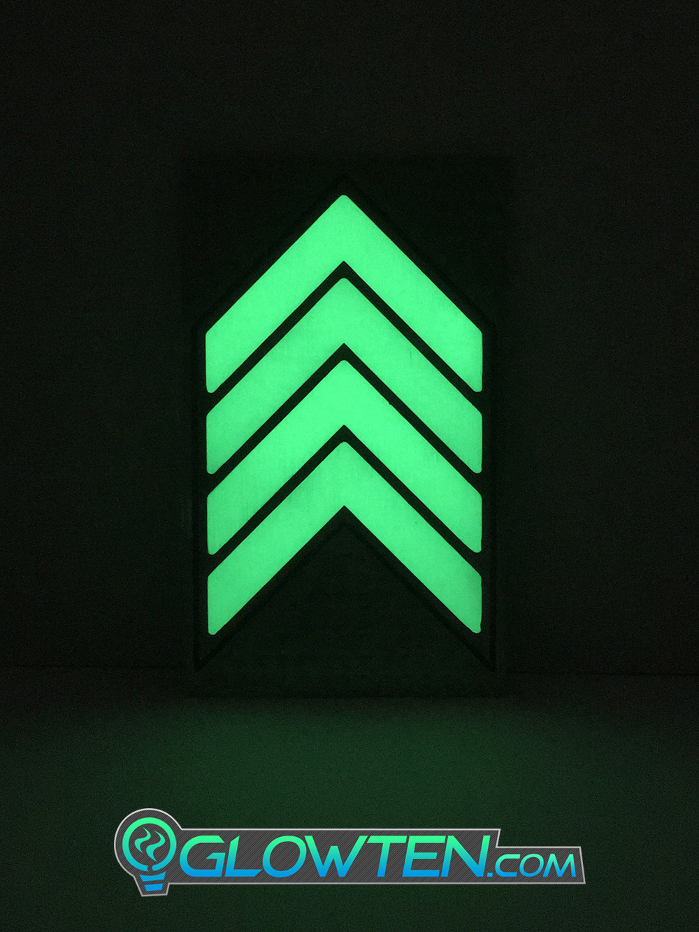GLOWTEN.com - FOUR QUAD ARROWS Ground Direction Safety Sign Glow in the Dark Stainless Steel Plate With Anti-Slip Function Directional Guide Slip-Guard, Slipguard picture photo cap preview pic 2