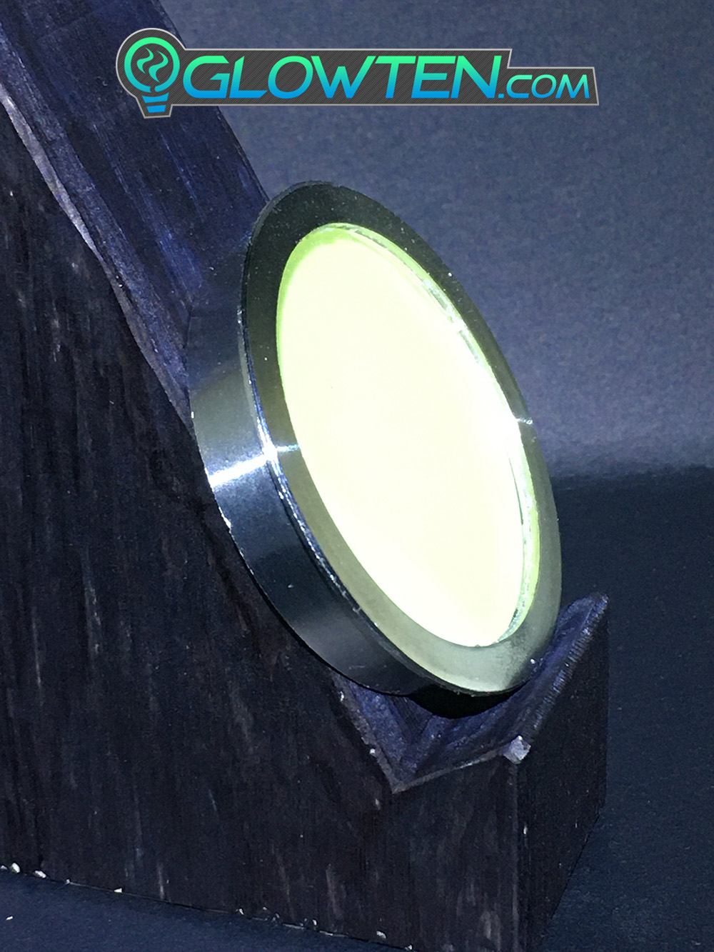 GLOWTEN.com - Emitting Long Lasting Glow Emitting Green Glow Lighting ROUND CIRCLE Glow in the Dark Safety Sign With Stainless Steel Toughened Glass Rim Dot Ground Guide Chip Marker Plaque picture photo cap preview pic image search 5