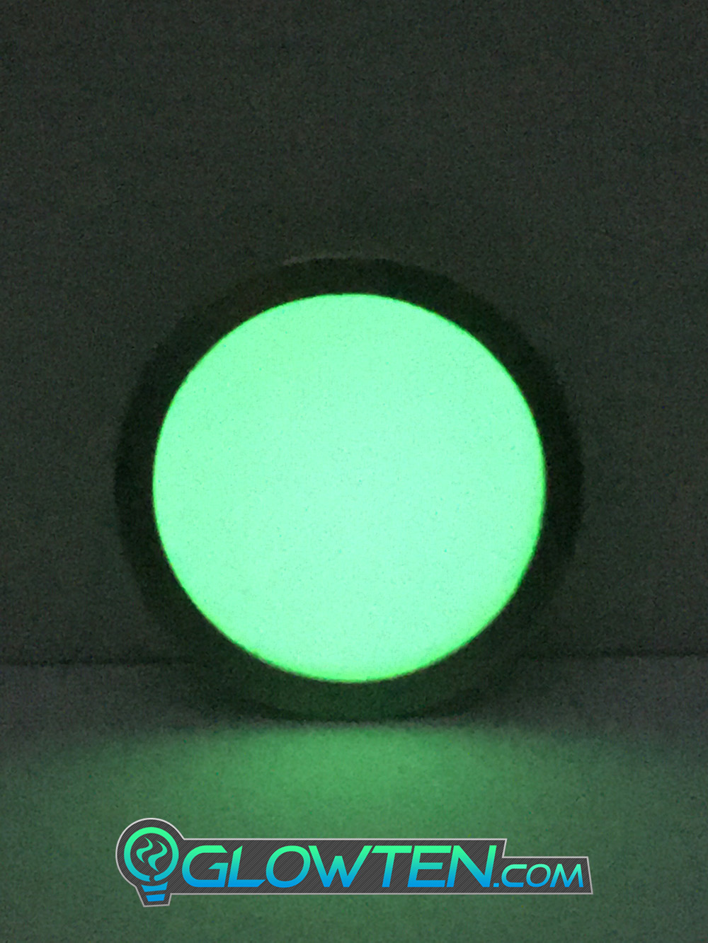 GLOWTEN.com - Night Vision ROUND CIRCLE Glow in the Dark Safety Sign With Stainless Steel Toughened Glass Rim Dot Ground Guide Chip Marker Plaque picture photo cap preview pic image search 2