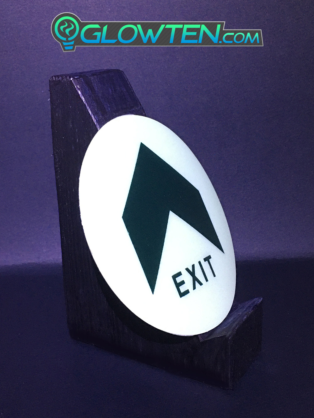 GLOWTEN.com - Subways, Airports, Shopping Malls, Office Buildings, Factories, Schools, Hospitals, Indoor Stadiumslarge Arrow Fire Exit Sign Emergency Glow In The Dark Eco Friendly Photoluminescent Pigment Pvc Plastic With Adhesive picture photo cap preview pic image search 5