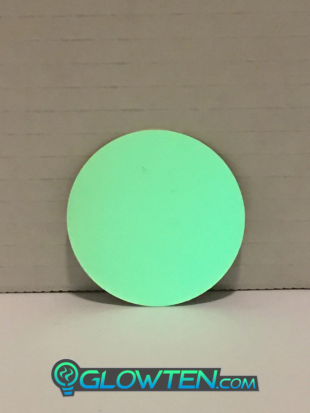 GLOWTEN.com - CIRCLE PLAQUE Glow in the Dark Stairs Guide Sign Round Eco Friendly Photoluminescent Material Aluminum Body Luminous pic 1 picture photo cap preview pic 1