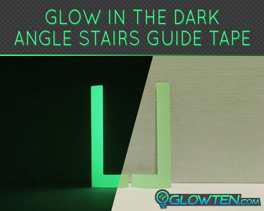 GLOWTEN.com - Eco-friendly Materials The Glow In The Dark Tape Is Made Of PVC Plastic Photoluminescent Pigment Flourescent Glow In The Dark Stairs Guide Green Angle Left Right Sign Lite Green Tape Adhesive picture photo cap preview pic image search 5