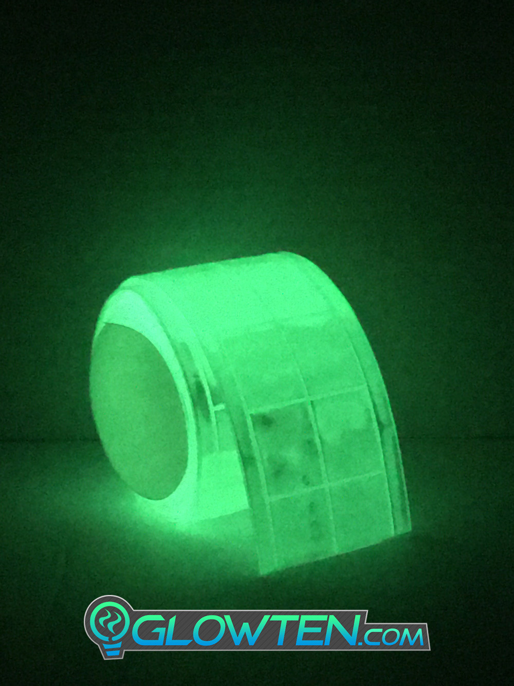 GLOWTEN.com - What Is The Best Glow In The Dark Tape LUMINOUS Band Glow in the Dark See Better At Night Safety Hazard Cycling Reflective High-Visibility Band Biking at Night Bicycle picture photo cap preview pic image search 2