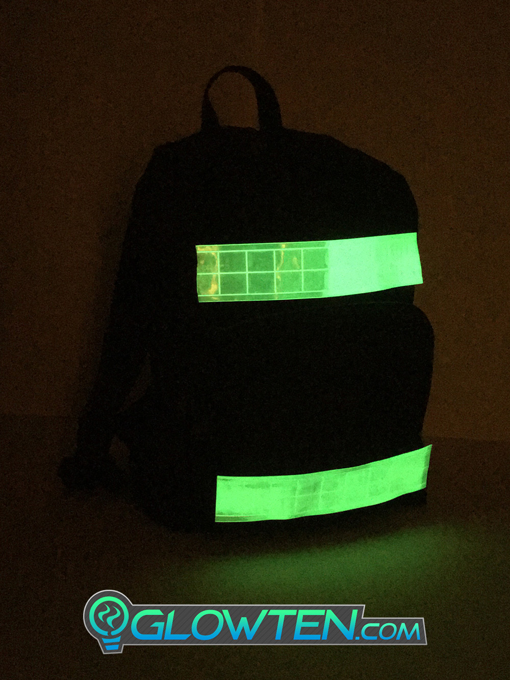 GLOWTEN.com - Application Clothing, Shirts, Jackets, Hats, Bags Cycling Gear Sew This Band Onto Clothing Or A Bag Make Sure The Reflective Surface Is Facing Outwards LUMINOUS Band Glow in the Dark See Better At Night Safety Hazard Cycling Reflective High-Visibility Band Biking at Night Bicycle picture photo cap preview pic 6