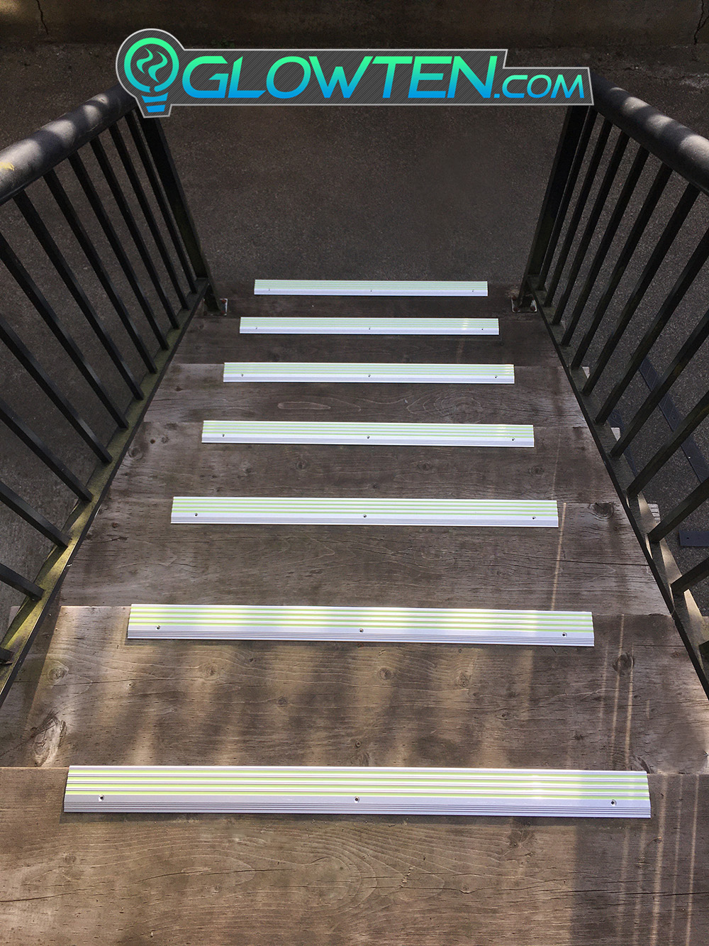GLOWTEN.com - ANTI-SLIP STAIRS Traction TREAD 4-BANDS FOURBANDS GLOW IN THE DARK LUMINOUS SAFETY STRIP Out Door All Weather NON-SKID SEE BETTER AT NIGHT PREVENT FALLING FOR MINIMUM 31.5