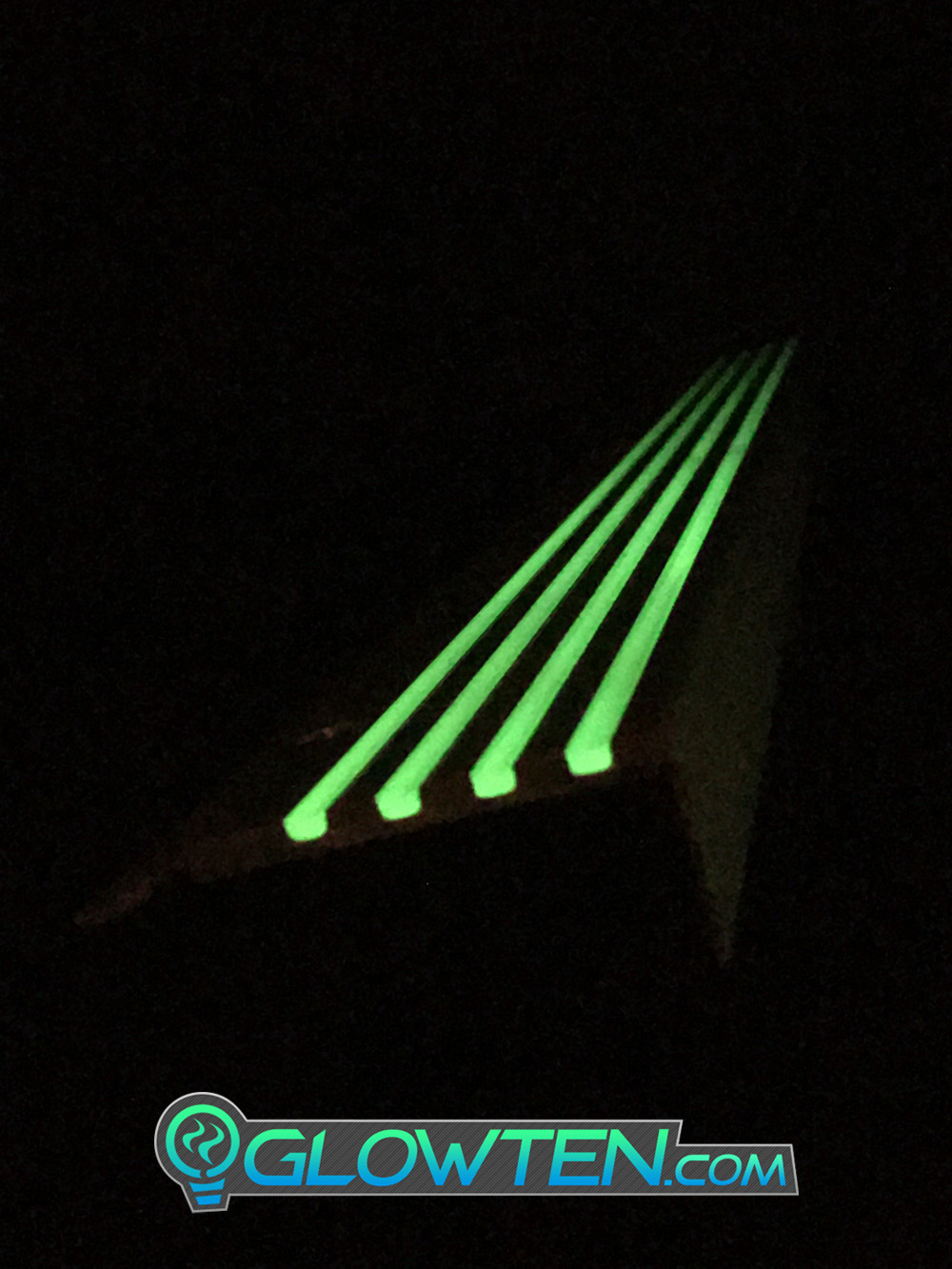 GLOWTEN.com - ANTI-SLIP STAIRS TREAD 4-BANDS FOURBANDS NOSING GLOW IN THE DARK LUMINOUS SAFETY STRIP All Purpose Out Door All Weather NON-SKID SEE BETTER AT NIGHT PREVENT FALLING GRIP STRENGTH FOR MINIMUM 31.5