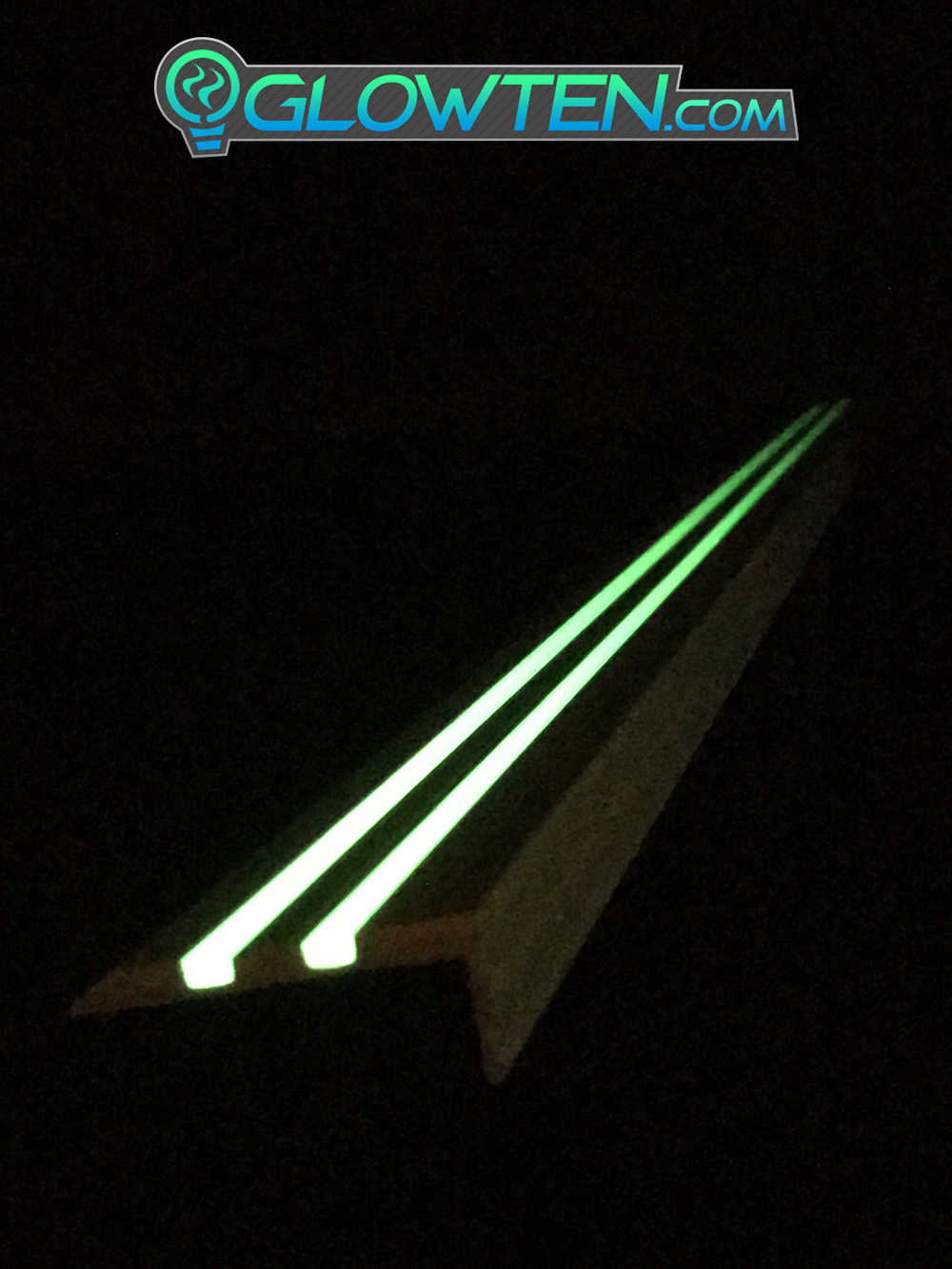 GLOWTEN.com - ANTI-SLIP STAIRS TREAD 2-BANDS NOSING GLOW IN THE DARK LUMINOUS SAFETY STRIP NON-SKID SEE BETTER AT NIGHT PREVENT FALLING GRIP STRENGTH FOR MINIMUM 31.5