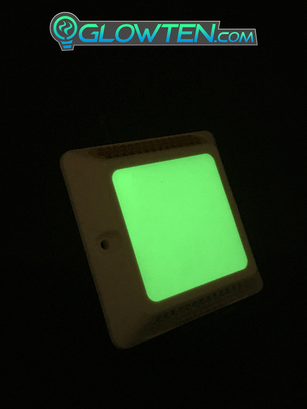 GLOWTEN.com - Glow in the Dark Shiny GREEN SQUARE BLOCK Riser Luminous Reflective Road Traffic Pavement Marker Botts' dots, cat's eyes Road Sign Reflector ABS Body Material See Brighter And Better At Night picture photo cap preview pic image search 5
