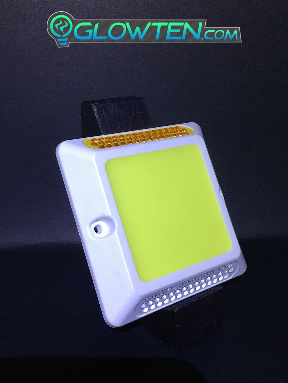 GLOWTEN.com - Glow in the Dark Shiny GREEN SQUARE BLOCK Riser Luminous Reflective Road Traffic Pavement Marker Road Sign Reflector ABS Body Material Road Markings Botts' dots, cat's eyes Bump Green Glow Sign picture photo cap preview pic 6