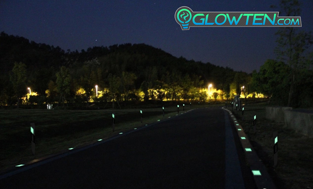 GLOWTEN.com - Dark Garden Passageways Glow in the Dark Shiny GREEN SQUARE BLOCK Riser Luminous Reflective Road Traffic Pavement Marker Road Sign Reflector ABS Body Material Botts' dots, cat's eyes picture photo cap preview pic 8