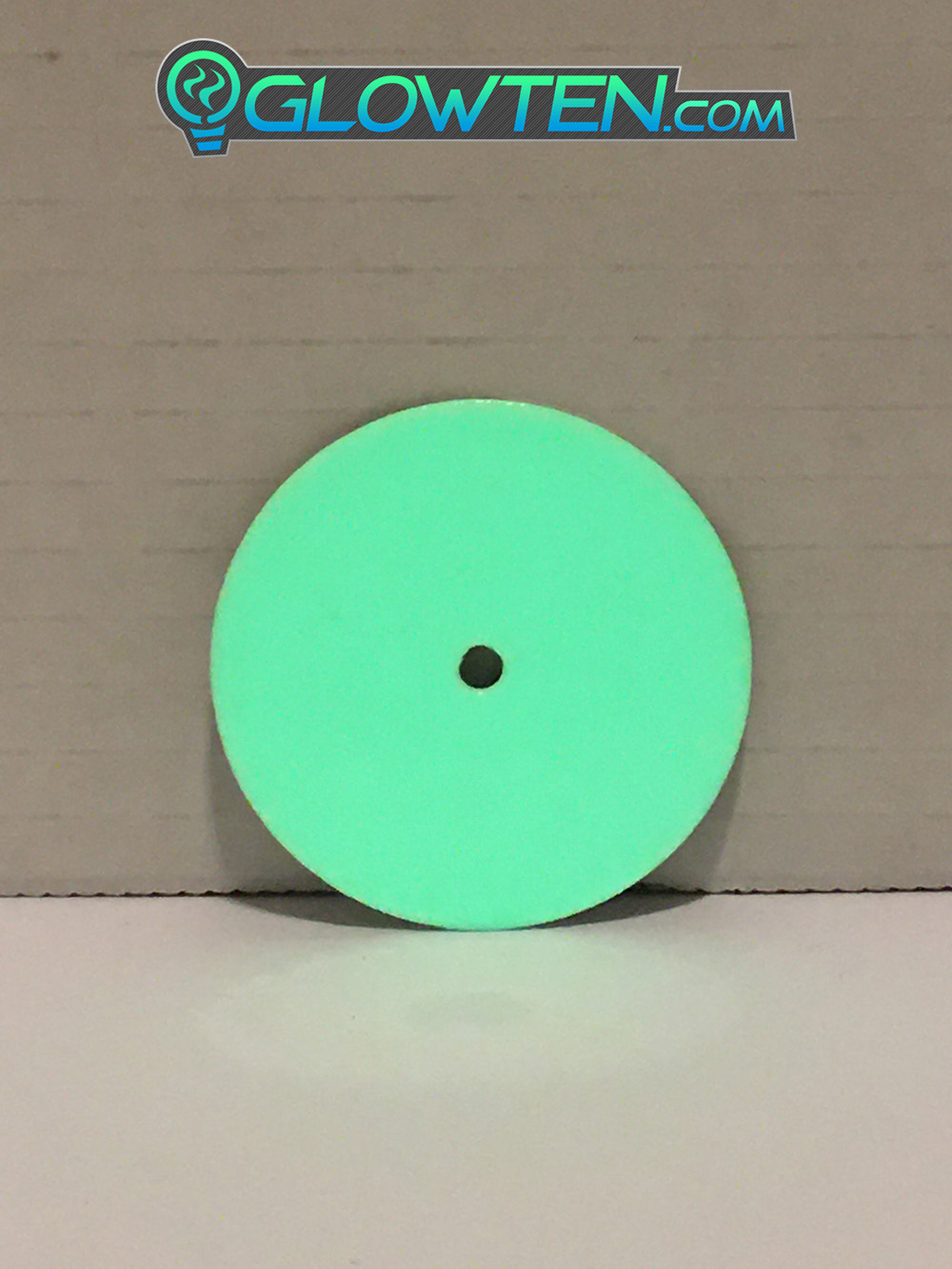 GLOWTEN.com - Sides Of Roads, Sides Of Small Bridges, Traffic Marker Round Point Circle Glow In The Dark Sign Light Guide Eco Friendly Traffic Marker Photoluminescent Aluminum Body Material, Any Poles picture photo cap preview pic image search 1