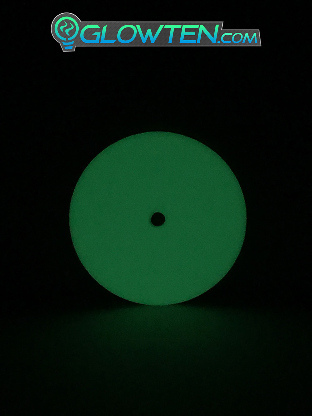 GLOWTEN.com - Dimly Lit Areas, Alley Ways, Rural Areas, Glow In The Dark Safety Signs Round Point Circle Glow In The Dark Sign Light Guide Eco Friendly Traffic Marker Photoluminescent Aluminum Body Material, Any Poles picture photo cap preview pic image search 2