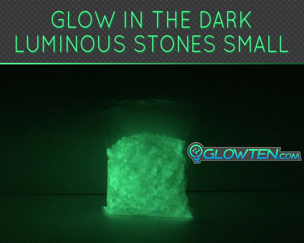 GLOWTEN.com - Luminous Stones Pebbles Small Natural Glowing in the Dark Ground Glow Rocks Arts n Crafts Decoration Eco Friendly Material In Bags picture photo cap preview pic image search 3