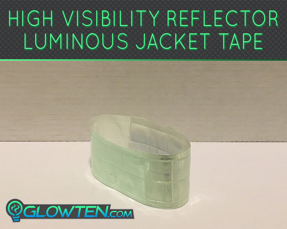 GLOWTEN.com - What is the best glow in the dark tape Reflective Luminous Band See Better At Night Safety High-Visibility Reflector Band Tape Armband For Reflective Clothing picture photo cap preview pic image search 1