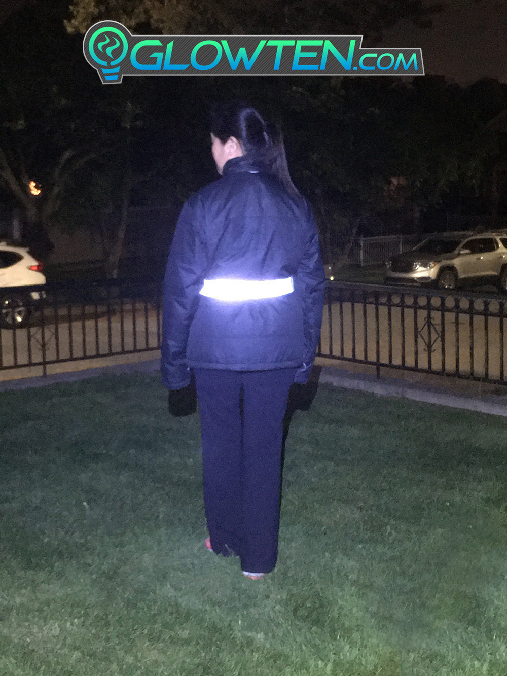GLOWTEN.com - Reflective Tape For Clothing Reflective Luminous Band See Better At Night Safety High-Visibility Reflector Band Tape Armband For Reflective Clothing picture photo cap preview pic image search 4