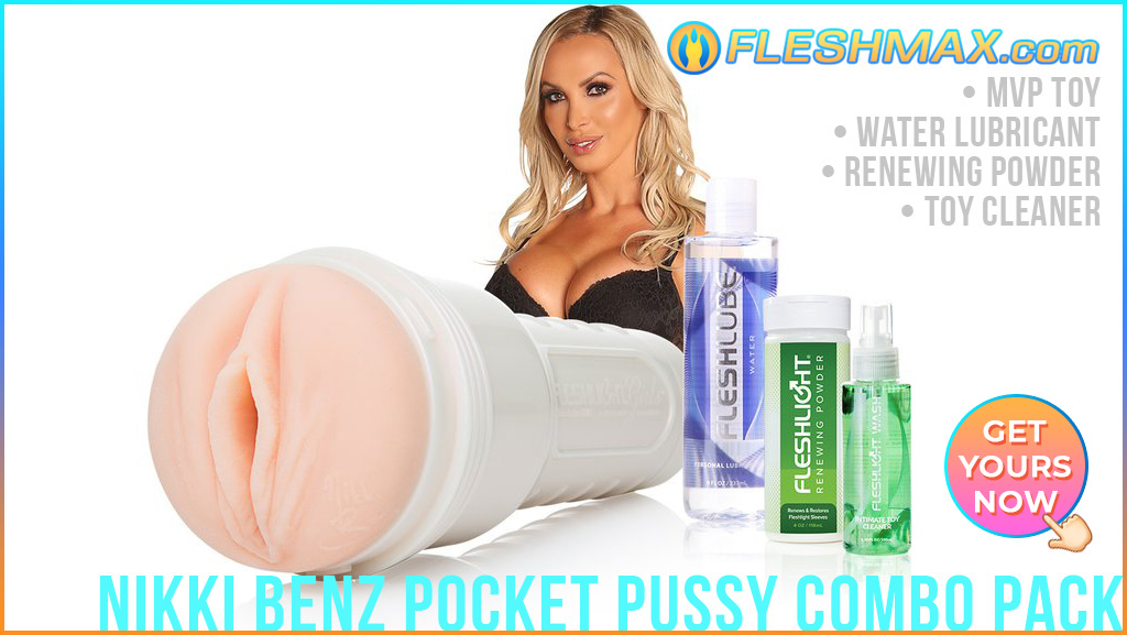 FLESHMAX.com Pocket Pussy Sex Toy Buy Masturbator Nikki Benz MVP Vagina Stroke Combo Pack Water Lubricant Renewing Powder Toy Cleaner fleshlight FLESHMAX.com sex toy photo sexy picture google image search
