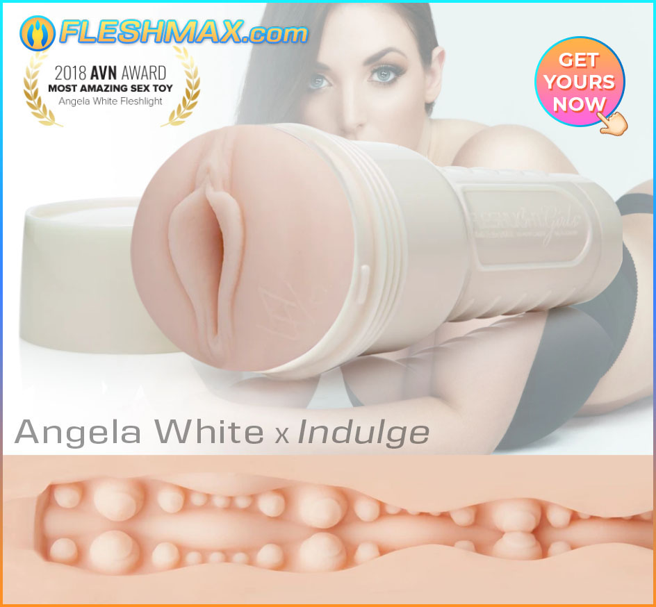 FLESHMAX.com Angela White porn star Indulge Fleshlight Male Masturbation Jerk-Off Sex Toy Don't Use Your Hands Anymore FLESHMAX FLESHLIGHT MASTURBATOR POCKET PUSSY TOY