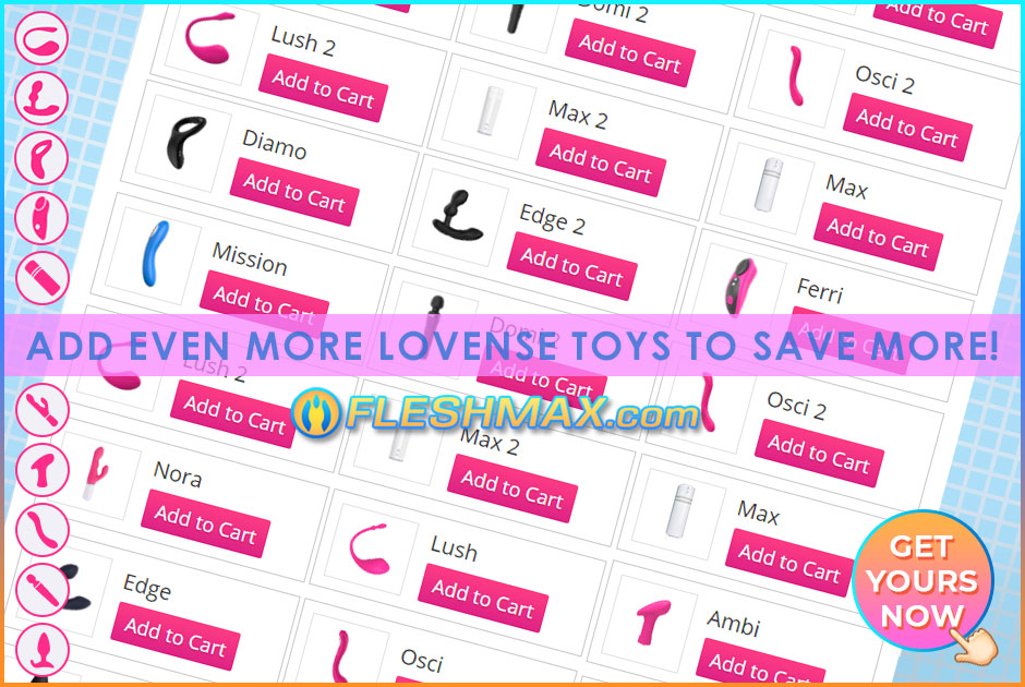 FLESHMAX.com add even more other Lovense bluetooth wifi vibrator sex toys to cart to save even more! The more you get, the more you save so what are you waiting for?! All Lovense motorized vibration toys can be interconnected through app. Lovers Sex Toys Store Merch Shopping Store Channel Image Search jpg