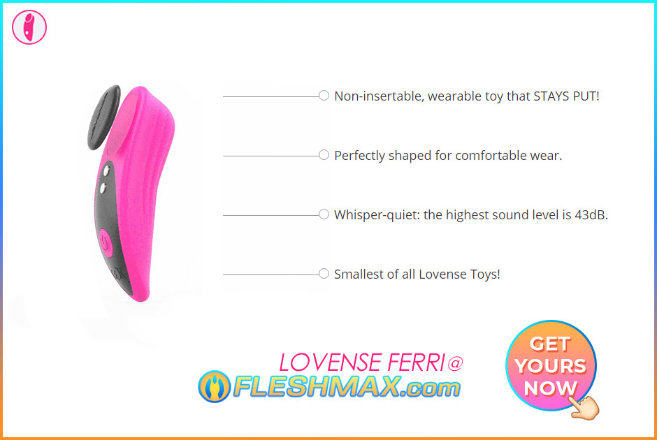 FLESHMAX.com Lovense Ferri GRAB YOURS RIGHT NOW HERE Pink Panties Non-insertable, wearable undies vibrator sex toy that stays secured, body contour shaped to make you as one and feel good while wearing, very quiet toy as it only measures 43dB, it's the smallest of all Lovense Toys! Magnetic Clip On Teledildonic Wet Orgasm Ohh Fun Sex Vibrator Motor Gives The Best Discrete Sexy Vibration Stimulation Massager Toy Across the Globe image search jpg pic photo picture 2